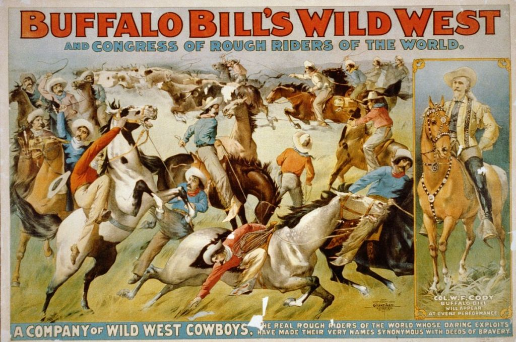 Wild West show poster, 1899. Source Wikipedia Commons