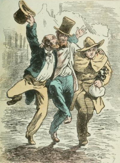 From Scenes de la vie de boheme (1850), Henri Murger, illustr. Maurice Berty.